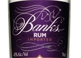 A bottle of Banks 5-Island Rum, a mixture of 20 different rums from five areas