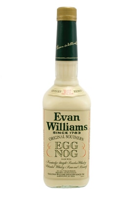 Evan Williams Holiday Egg Nog is a blend of Kentucky Straight Bourbon and traditional southern-style eggnog