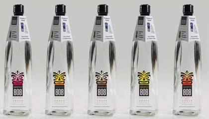 Island 808 Vodkas are distilled from pineapple and come in coconut, lychee, mango, pineapple and pineapple orange guava flavors