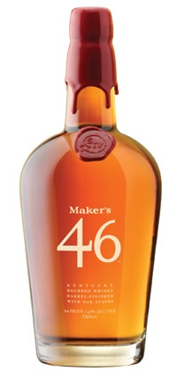 A bottle of Maker's 46 Kentucky Bourbon Whisky