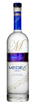 MEDEA Vodka is made from artesian water and distilled sixteen times according to techniques first developed in 1777