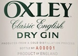 Oxley Dry Gin is the world's first cold-distilled spirit