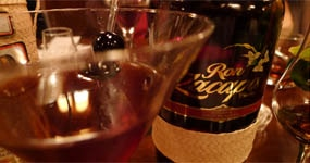 A Zacapa rum bottle with the Presidente de Antigua cocktail, featuring Ron Zacapa Centenario rum