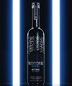 Belvedere Intense Vodka is a premium Polish vodka