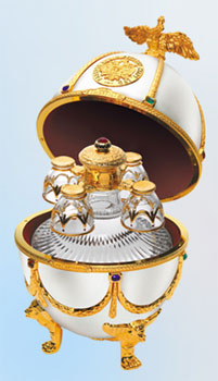 The Imperial Collection Faberge Egg pays homage to Russia's illustrious royal past