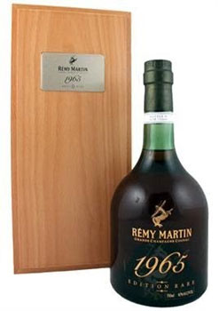 Remy Martin 1965 Cognac is made from grapes from both the Petite Champagne and Grande Champagne regions