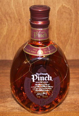 The Dimple Pinch is a fifteen-year-old blended whisky produced by John Haig & Co.