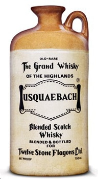 Usquaebach Rare, one of GAYOT's Top 10 Blended Scotch, comes in a stunning historic stone flagon instead of the standard whisky bottle