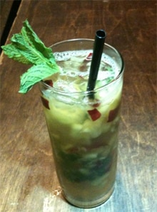 Apple Julep bourbon and spearmint cocktail from The Artisan Lounge in Las Vegas
