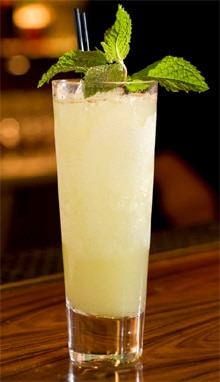 Chartreuse Swizzle pineapple cocktail from Clock Bar in San Francisco