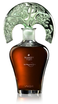 Hardy Le Printemps comes in a hand-crafted decanter from Lalique