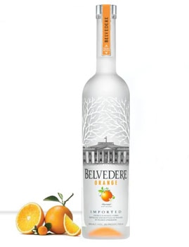 Belvedere Orange is distilled four times