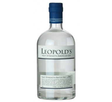 Leopold's Navy Strength American Gin is handcrafted in Colorado