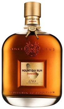 Mount Gay 1703 Old Cask Selection, one of our Top 10 Rums