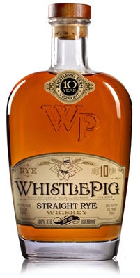 On GAYOT's list of Top 10 Ryes, WhistlePig 100/100 Straight Rye Whiskey is made by Master Distiller Dave Pickerell from Maker's Mark