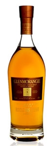 Glenmorangie 18 Years Old Extremely Rare, one of GAYOT's Top 10 Single Malt Scotch picks, spends 15 years in Bourbon oak barrels and its remaining three years in Oloroso Sherry casks