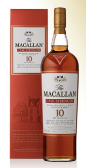 GAYOT.com chose The Macallan Cask Strength, a top-tier malt that drinks like a dessert, to be featured on our Top 10 Single Malt Scotch list