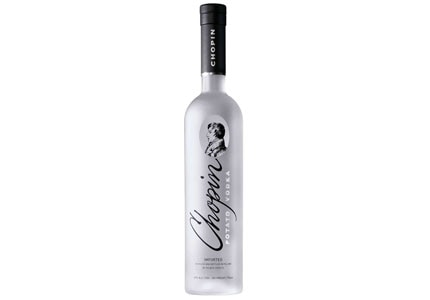 Chopin Vodka, a potato vodka, is from Poland