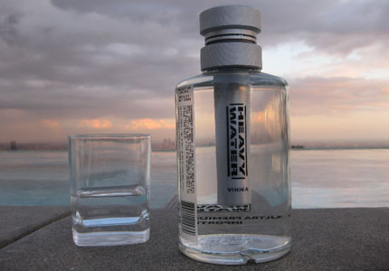 Heavy Water Vodka is made from Scandinavian winter wheat