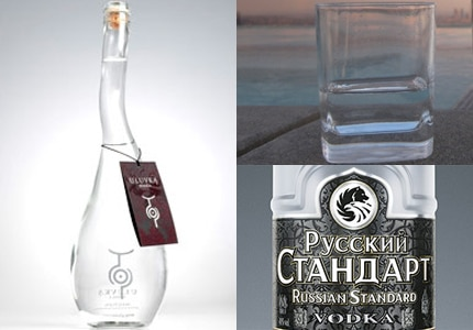 Uluvka Vodka, Russian Standard Vodka, Heavy Water Vodka: Part of GAYOT's Top 10 Vodkas