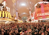 The Fremont Street Experience in Las Vegas on New Year's Eve
