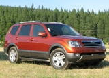 A three-quarter front view of a 2009 Kia Borrego
