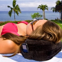 Memory Foam Neck Pillow and Travel Pillow by Cabeau, one of our Top 10 Travel Gifts