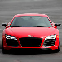 The Audi R8 V10 plus Coupe is a super-fast two-seat luxury coupe, based on the Lamborghini Gallardo