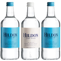 Hildon Natural Mineral Water, one of the UK's most prestigious bottled waters