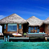 Huvafen Fushi in the Maldives, one of GAYOT's top diving resorts, even has an underwater spa