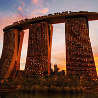 Marina Bay Sands in Singapore: an extravagant setting with more than 2,300 slots and almost 500 gaming tables