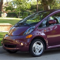 The all-electric Mitsubishi i-MiEV, a cool subcompact on GAYOT's list of the Top 10 Electric Cars