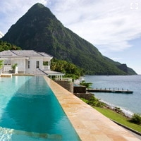 Sugar Beach, A Viceroy Resort in St. Lucia offers stunning views of the Pitons