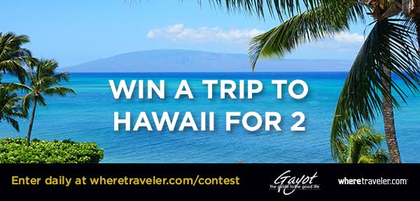 Enter to win a trip for two to Hawaii
