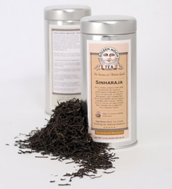 The full-bodied, molasses-like Rasa Sinharaja tea by Golden Moon is grown in the Sri Lankan rainforests