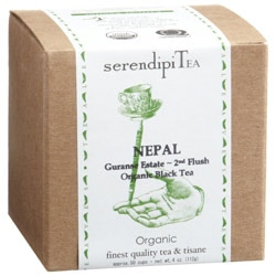 SerendipiTea's Guranse Estate Organic Black Tea hails from the foothills of the Mahabarat Mountains in Nepal