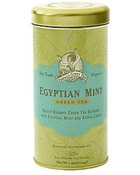 Zhena's Gypsy Tea Egyptian Mint is fair trade certified and 100 per cent organic