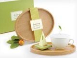 The Tea Forté Tea Set features a serving tray, teacup, forte tea blend and silken infusers