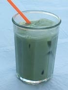 Mix Matcha with milk and pour it over ice for a delicious latte