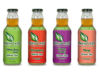 New Leaf Brands Ready to Drink Iced Teas come in 14 different flavors, including Honeydew Melon, Strawberry, Ginseng & Honey and Mango