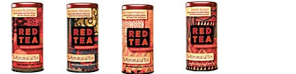 The Republic of Tea Red Tea Blends, including Botswana Blossom, Capetown Harvest, Cedarberg Organic and Safari Sunset