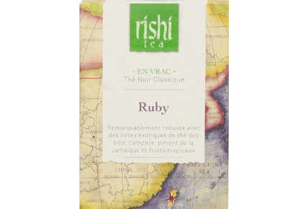 The Fair Trade Certified, organic tea leaves of Rishi Tea Ruby were grown in Taiwan