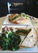Sandwiches from T on Fairfax tea house in Los Angeles, CA