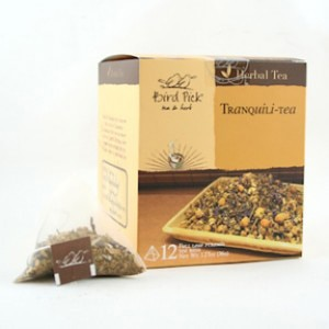 Birdpick's Tranquili-tea is a soothing blend of chamomile, lavender and mint