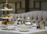 A table set for afternoon tea at the Lanesborough Hotel, London