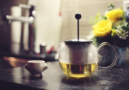 There�s an active green tea substance called EGCG that targets cancer-causing proteins