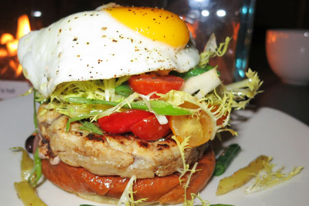 Albacore tuna burger at Short Order, one of GAYOT's Top 10 Burger Restaurants in Los Angeles