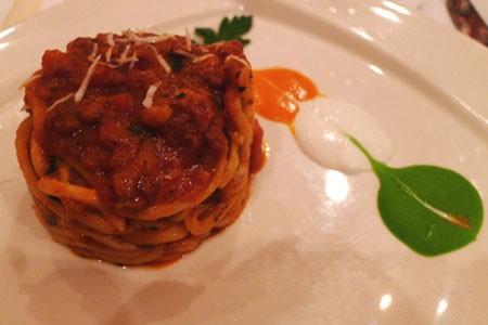 Spaghetti from Valentino, one of GAYOT's Top 10 Italian Restaurants in Los Angeles