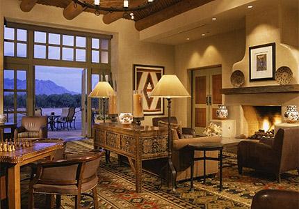 The lobby at Hyatt Regency Tamaya Resort & Spa in Santa Ana Pueblo, New Mexico