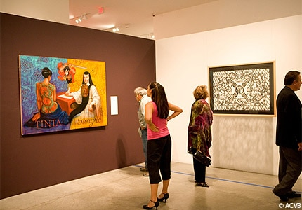 View the latest exhibits at the National Hispanic Cultural Center in Albuquerque, New Mexico
